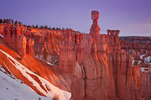 Sunrise At Thors Hammer In Bryce Canyon National Park, Utah