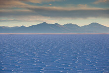 Details Of The Salt Deposits In The Salar De Uyuni Salt Flat And The Andes Mountains In The Distance In South-western Bolivia