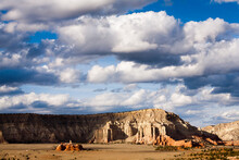Clouds Gather Above The Sandstone Mountains Surrounding Kodachrome Basin State Park, Utah.