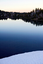 Camp Lake In The Three Sisters Wilderness, Oregon Cascades.