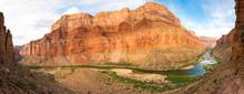 Rafting The Colorado River In The Grand Canyon National Park, Arizona. Nankoweap Canyon