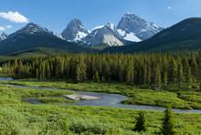 Commonwealth Peak & Mount Birdwood In The Spray Valley And Smutts Creek, Peter Lougheed Provincial Park, Alberta, Canada