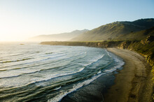 Just Off Of Highway 1, Sand Dollar Beach Glows With The Diminishing Light