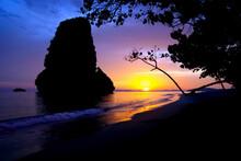 Sunset On Pranang Beach - Railay, Thailand