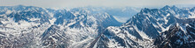 Snow On The Mountains Of Chugach State Park, Alaska.