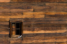 Close-up Of A Barn Wall In A Snow-covered Field Near Boulder, Colorado
