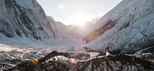 Sunset As Seen From Camp 2 On The Upper Khumbu Glacier Of Mount Everest.