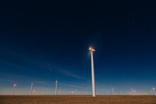 A Wind Energy Center In Colorado, United States.