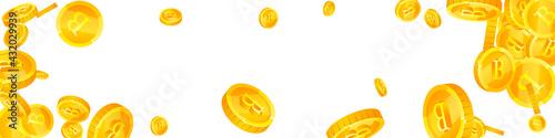 Obraz na plátne Thai baht coins falling