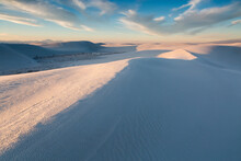 Wind-eroded Waves Forming On Sand Dunes, White Sands National Monument, New Mexico