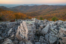 The Appalachian Trail Near Blackrock Summit In Shenandoah National Park, Virginia.