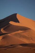 Towering Sand Dunes In Sossusvlei, Namibia