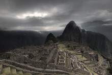 A Dramatic Landscape Of The Famous Vantage Point Of Machu Picchu, One Of The Wonders Of The World And The Icon Of The Incan Empire.