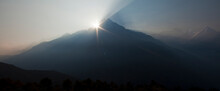 Sunrise Over A Himalayan Peak In Nepal, 2012