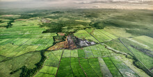 An Aerial Perspective Of The Nicaragua's Stunning Lakes, Rivers And Farms.