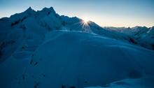 Sunrise In North Cascades National Park, Washington.