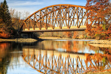 Bridge 507 Is One Of Connecticut's Historic Metal Truss Bridges.