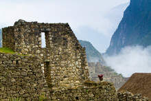 View Of Machu Picchu - The Lost City Of The Incas - Located In The Vilcanota Mountain Range In South-central Peru.