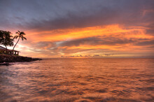Sunset At Spencer Beach State Park On The Island Of Hawaii In The Hawaiian Islands