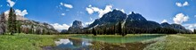 Panoramic Of The Upper Green River Valley In Wyoming, Green River With Wind River Range From Beaver Park