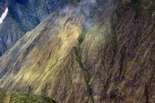 The Inca Trail Seen From Machu Picchu Mountain, Peru.
