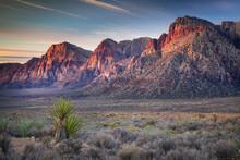 Sunrise Hits Red Rock National Conservation Area Near Las Vegas, Nevada