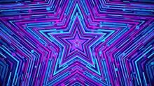 Colorful Blue Magenta Star