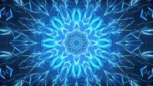 VJ Blue Glowing Kaleidoscope