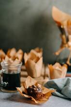 Chocolate Muffin And Coffee