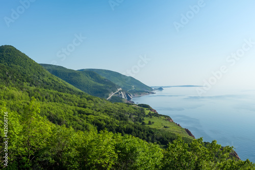 Valokuva Beautiful summer morning views of Cape Breton Islands along the world famous and most scenic Cabot Trail route, Cape Breton, Nova Scotia