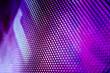Leinwandbild Motiv CloseUp LED blurred screen. LED soft focus background. abstract background ideal for design.