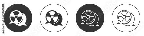 Fototapeta Black Radioactive icon isolated on white background