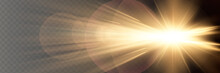 Sunlight Translucent Special Light Effect Design. Vector Blur In Radiance Light.