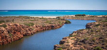 Landscape View Of The Mouth Of Yardie Creek In The Ningaloo National Park Near Exmouth In Western Australia