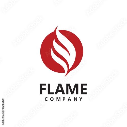 Valokuva Bonfire Camp fire flame vintage retro logo vector