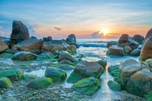 Seascape In The Center Of Vietnam