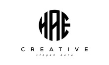 Letter HAE Creative Circle Logo Design Vector