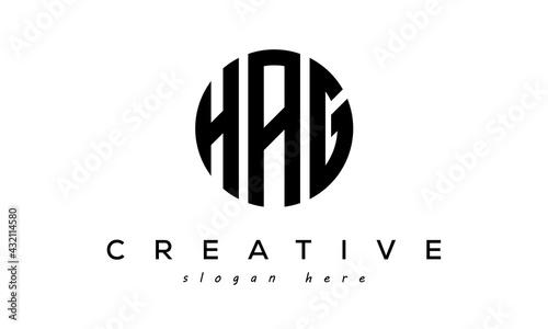Fotografie, Obraz Letter HAG creative circle logo design vector