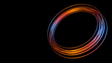 Abstract Colorful Background With Multiple Colorful Glowing Circles Or Rings For Product Presentations