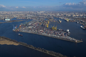 Big Sea Port St. Petersburg Ship Container