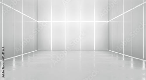 Fotografie, Obraz Abstract blank space of empty room with Illuminated walls