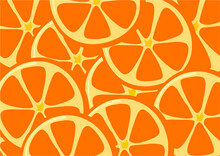 Background And Texture Of Oranges, Juicy Orange Fruits In Repeat