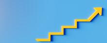 Business Or Success Concept. Winning Situation. Reach Goal Of Success. Achievement Concept. Business Target. 3D Rendering.