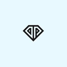 Abstract Dp Logo. Diamond Icon