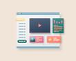 Web page interface design. Web design and web development concept. User interface optimization. Vector illustration.