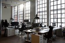 Empty Desks In Creative Office