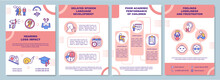 Hearing Loss Impact Brochure Template. Poor Academic Performance. Flyer, Booklet, Leaflet Print, Cover Design With Linear Icons. Vector Layouts For Presentation, Annual Reports, Advertisement Pages