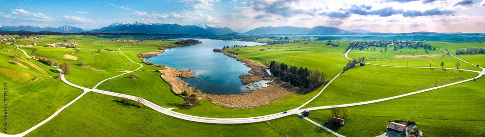 Leinwandbild Motiv - fottoo : landscape at the riegsee in bavaria