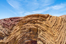 Anticline Layers In A Hill In The Mojave Desert