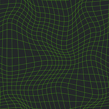 Technologic Warped Grid Pattern. Seamless Vector